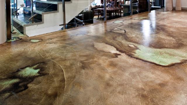 pavimenti in cemento acidificato